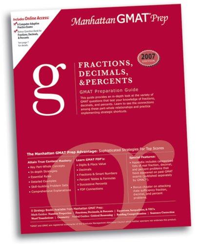 Fractions, Decimals, and Percents GMAT Preparation Guide (Manhattan GMAT Preparation Guide: Sentence Correction)