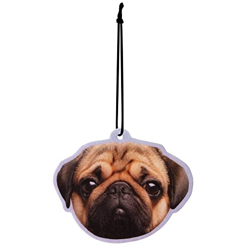 Pugs & Kisses Dog Peach Air Freshener Car Office Home Gym Locker
