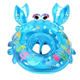 UClever Baby Inflatable Pool Float Infant Crab Seat Boat Swim Ring with Handles