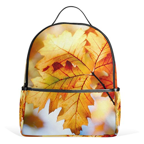 MaMacool Fall Leaf School Backpack for Boys Teen Girls primary school students Autumn Leaves Primary