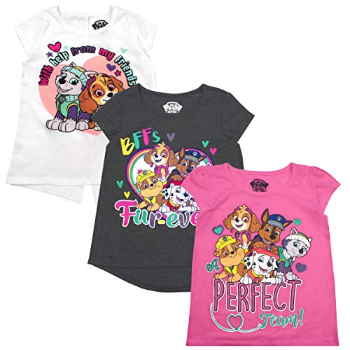 Nickelodeon Girls and Toddlers 3-Pack T-Shirts: JoJo Siwa and Paw Patrol
