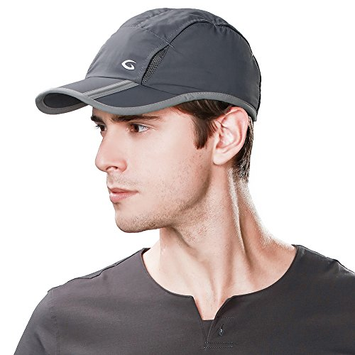 Siggi Unisex Quick Dry Mesh Outdoor Baseball Sun Cap UPF 50+ Running Hiking Golf Cap Darkgray