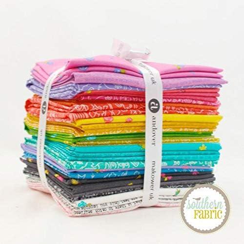 Andover Sun Print 2019 Fat Quarter Bundle (27 pcs) by Alison Glass 18 x 21 inches (45.72cm x 53.34cm) Fabric cuts DIY Quilt Fabric
