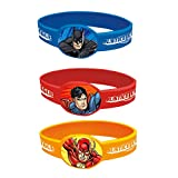 Unique Justice League Silicone Wristband Party Favors, 4Ct