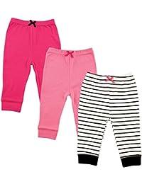 3 Pack Tapered Ankle Pants, Girl Black Stripe, 4T