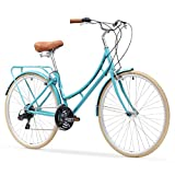 sixthreezero Ride In The Park Women's 21-Speed Touring City Bike, Blue, 700x32c Wheels, Teal, 17″/One Size For Sale