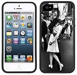 Sailor Nurse Kiss WWII Handmade iPhone 5 5S Black Case