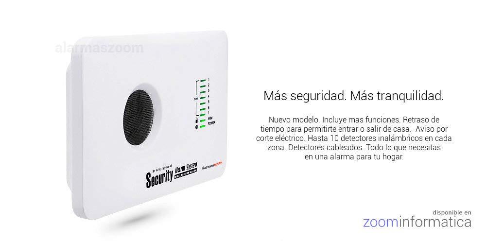 ☆Alarma AZ018 casa hogar negocio GSM sin cuotas inalámbrica. Voces en castellano.Sin cuotas de conexión. Aviso llamada o SMS.