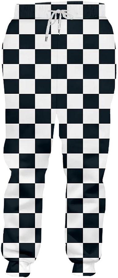 Otoño Invierno Flojo Confort Pantalones Largos Hombre Cool Print ...