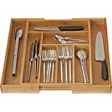 Home-it Expandable Cutlery Drawer Use for, Utensil Organizer Flatware Dividers-Kitchen Holder
