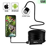 USB Endoscope Inspection Camera for IPhone/Android 2.0MP CMOS 1080P HD Waterproof Borescope Snake Camera -16.5FT