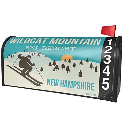 NEONBLOND Wildcat Mountain Ski Resort - New Hampshire Ski Resort Magnetic Mailbox Cover Custom Numbers (Wildcat Ski)
