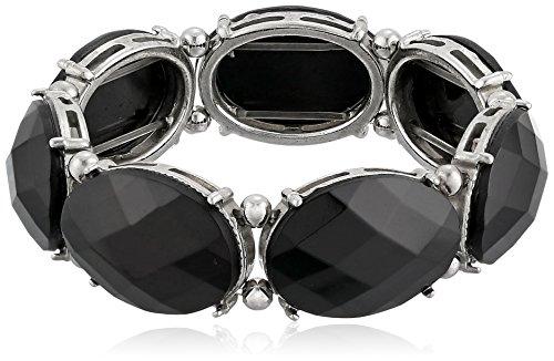 "1928 Jewelry ""Jeweltones Oval Faceted Stretch Bracelet"