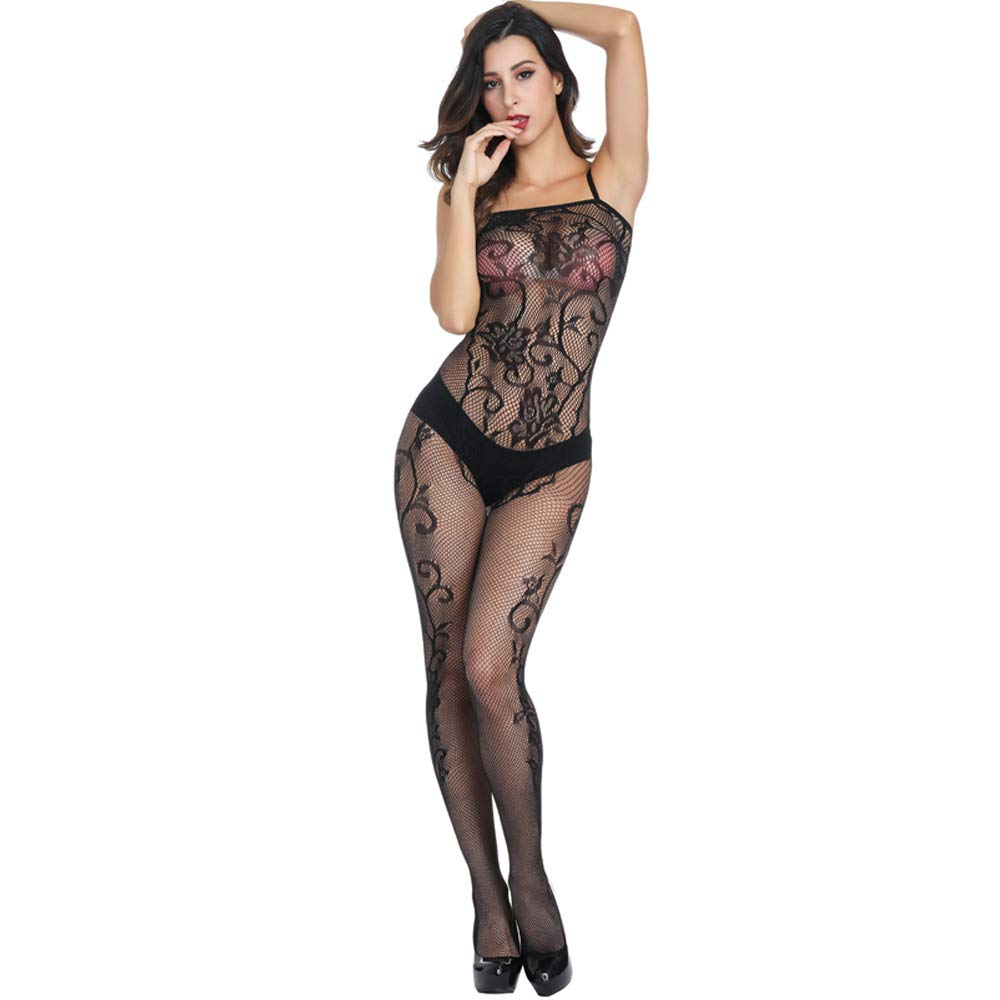 074a9d1e52919 Amazon.com  Deksais Crotchless Bodystocking Plus Size Open Crotch Lingerie  Stretch Fishnet Clothes Underwear (black1)  Clothing