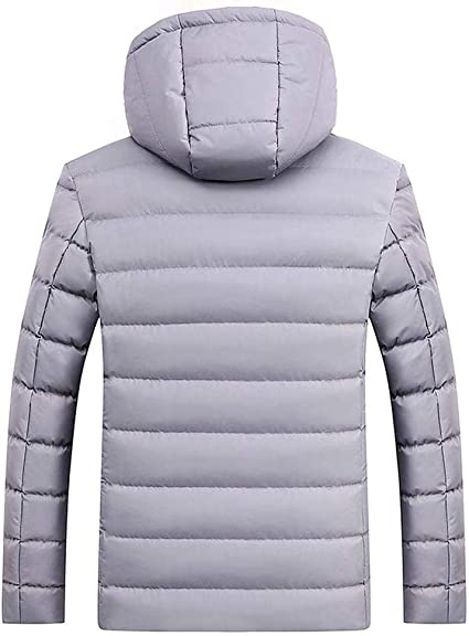 Unisex Down Coats,Fashion Couples Camouflage Down Jacket Removable Hooded Puffer Coat Lined Quilted Jacket Zulmaliu