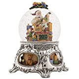 MusicBox Kingdom 56057 - Snow Globe ''Santas Workshop'' with The Melody ''Jingle Bells''