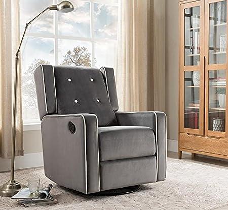 Amazon.com: Naomi Home Odelia balancín giratorio reclinable ...