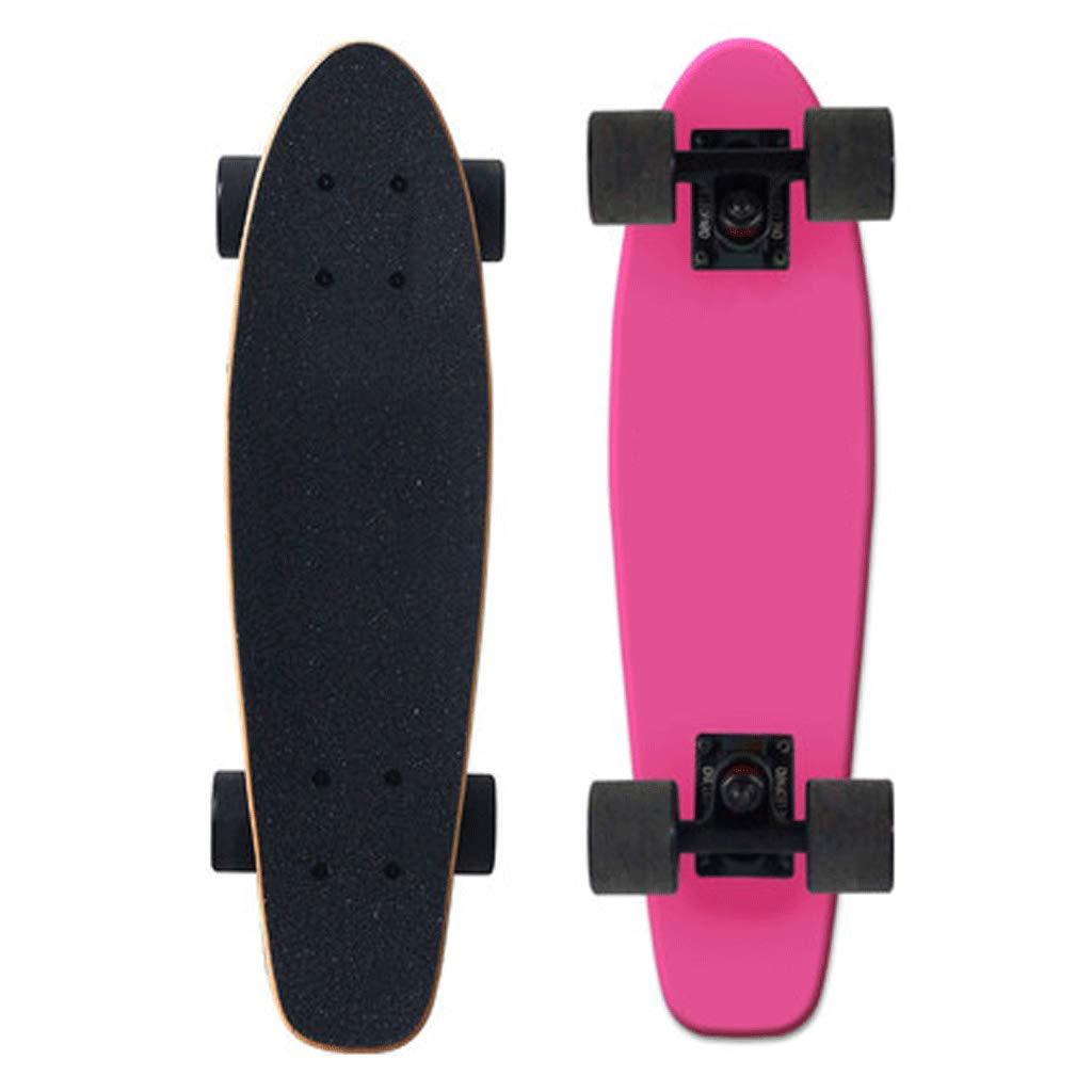 【最安値に挑戦】 メープルフィッシュプレート旅行ストリートスキル4ラウンド大人ロードボードの男性と女性のスケートボード (色 : ログ) B07L2TQ89M Pink B07L2TQ89M Pink Pink Pink, 美唄市:3cd918be --- a0267596.xsph.ru