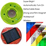 Aolyty Solar Strobe Warning Light Strong Magnetic