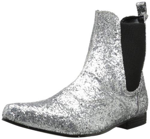Funtasma Men's Chelsea-58G Ankle Boot,Silver Glitter,10-11 M US
