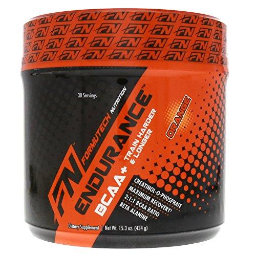 Formutech Nutrition Endurance BCAA Plus, Designed for Training Harder and Longer with Beta Alanine, Orange, 434 Gram