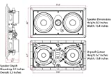 Micca M-CS Dual 5.25 Inch 2-Way MTM in-Wall Speaker