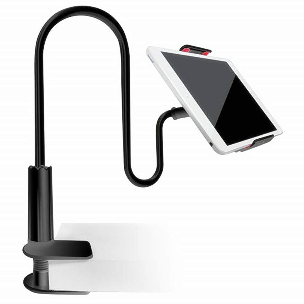NOVPEAK Gooseneck Phone Holder Stand Tablet Mount for iPhone X/8/7/6/6s Plus,Galaxy S8 /S8 Plus/Note 8,iPad Pro 9.7/Mini/Air and More (Only for 4-10.6 Devices) (Black)
