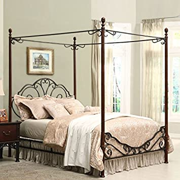 home creek bronze metal canopy bed