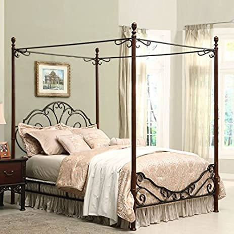 Amazoncom Home Creek Bronze Metal Canopy Bed Kitchen Dining