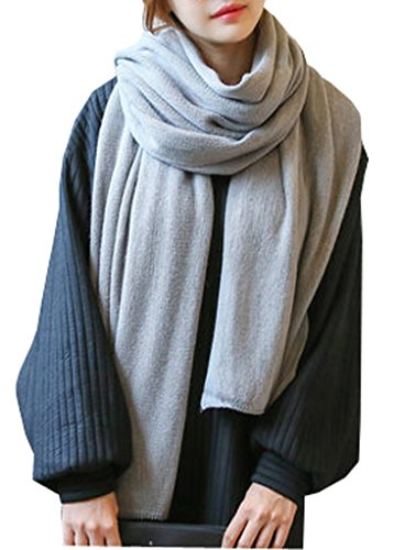 Wander Agio Womens Warm Long Shawl Winter Infinity Large Scarf Pure Color Light - Wool Scarf