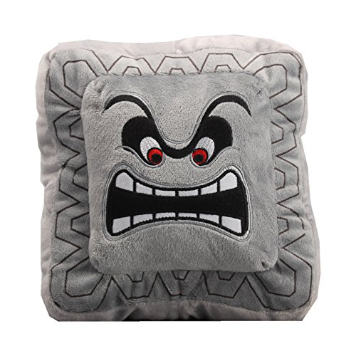 UiUoU Super Mario Bros. Thwomps Pillow Plush Cushion (Jr Stone Bone)