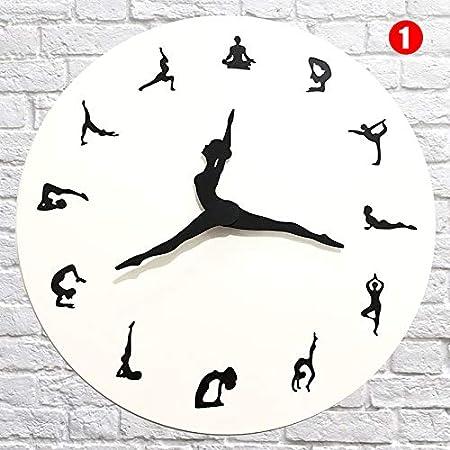 Asseny Reloj de Pared, Posturas de Yoga Reloj de Pared Reloj ...