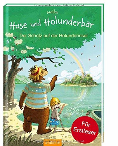 Hase und Holunderbär - Der Schatz auf der Holunderinsel: Für Erstleser