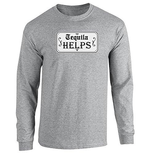 Helps Sport Grey 3XL Long Sleeve T-Shirt ()
