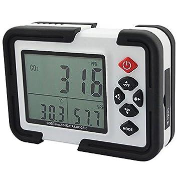 Doradus HT-2000 Medidor portátil de 9999ppm de CO2 Monitor analizador de gas detector de temperatura humedad relativa Prueba: Amazon.es: Electrónica