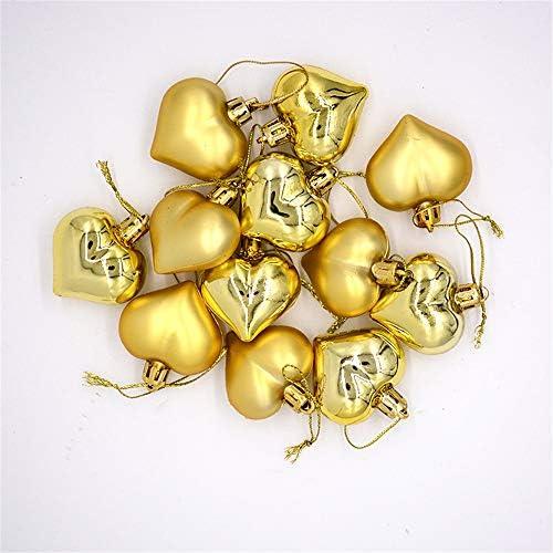 Fangfhu Christmas Tree Garland Ornament Decoration Pendant 4.5cm Shaped Electroplating Love Ball (?60)
