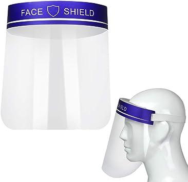 M/áscara Protectora Transparente Visera de la Cara Hombres y Mujeres M/áscara de Seguridad Protector Facial Protecci/ón de Ojos
