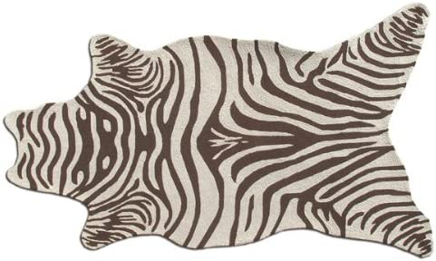 The Rug Market Handmade Rugs, Zebra Brown Shaped, Multicolor