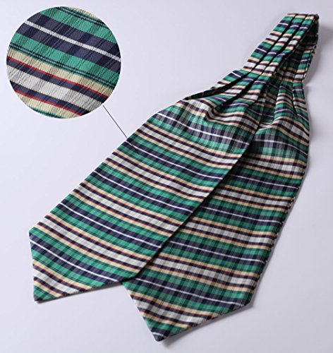 Check Tie BIYINI Handkerchief Woven Cravat Yellow Men's Green Jacquard Ascot Ffx7Hq