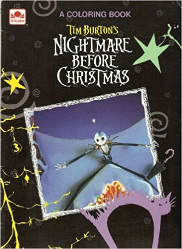 Nightmare Before Christmas Coloring Book Tim Burton Walt Disney