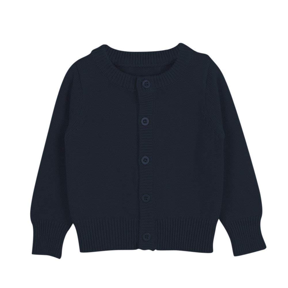 Yezelend Gilet Cardigan Manteau Tricot Souple Garçon Bébé Enfant Fille Longues Manches Souple Automne Hiver Sweater