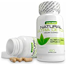 Colon Cleanse and Detox All Natural Way to Lose Weight, Flush Toxins, and Promote Digestive Health Organically 60 capsules