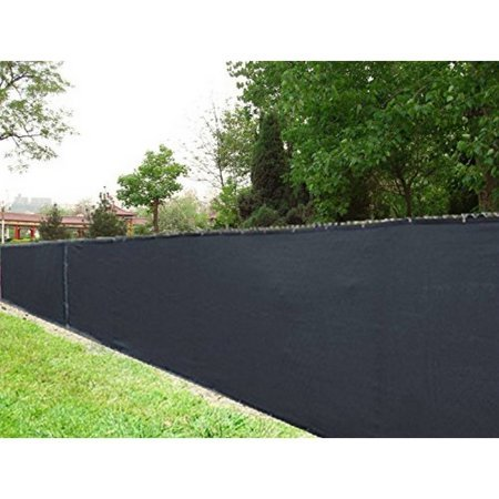 ALEKO 6 x 150 Feet Black Fence Privacy Screen Outdoor Backyard Fencing Privacy Windscreen Shade Cover Mesh Fabric With Grommets