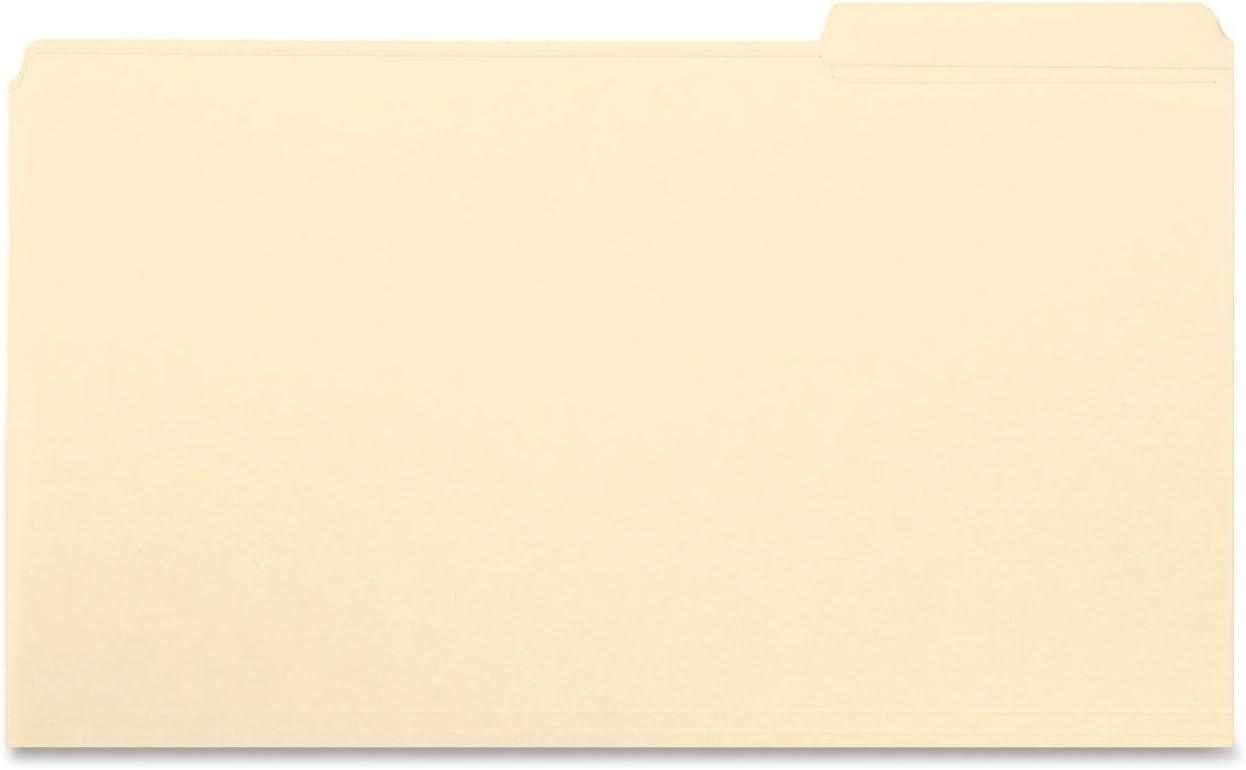 Smead File Folder, Reinforced 1/3-Cut Tab Right Position, Legal Size, Manila, 100 Per Box (15337)