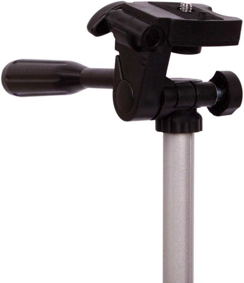 Alacritua Travel Camera Tripod Aluminum 360/° Swivel Fluid Head,Portable Tripod for WEIFENG WT3110A,Canon Nikon Sony DV DSLR Camera Camcorder Gopro Action Cam//iPhone /& Carry Bag /& Phone Mount