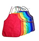 Dazzling Toys 6 Brightly Assorted Colors Kids Artist Aprons (6 Pack) Let Your Little (Future Star) Artists Make Use of Their Talent By Painting, Without Any Pressure of Getting All Dirty