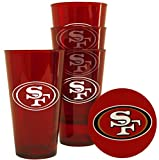 San Francisco 49ers Plastic Pint Glass Set