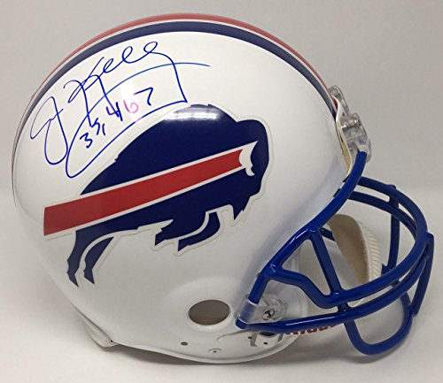 - JIM KELLY Signed Bills Throwback Proline Authentic Helmet w/