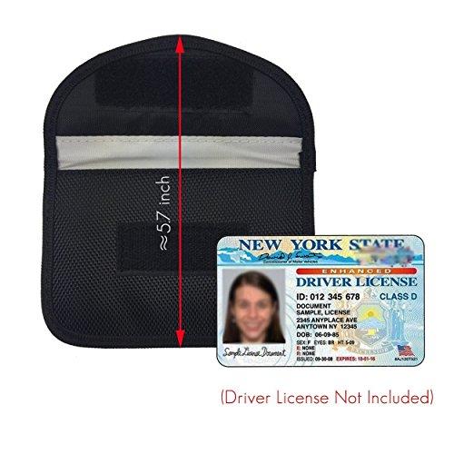 Naviurway Key Fob Signal Blocking Bag Auto RFID Blocking Holder Anti-hacking Security Bag for Car Smart Keyless Entry Remote Fob Controller Black by Naviurway (Image #2)