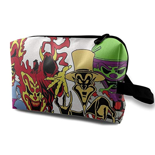 JacobKThompson Insane Clown Posse Portable Travel Cosmetic Bag Storage Bag Purse Travel Bag Handbag (Insane Clown Posse Bag)